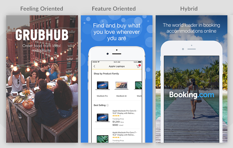 Styles of Screenshot Design   Store Maven   The ASO Project   App Store Optimization A/B Split Testing