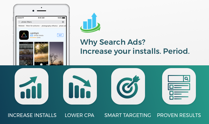 apple search ads - take advantage of new app store