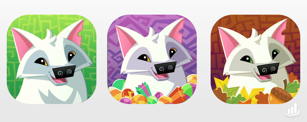 Holiday Icons - Christmas App Store Optimization | Wildworks Animal Jam | The ASO Project
