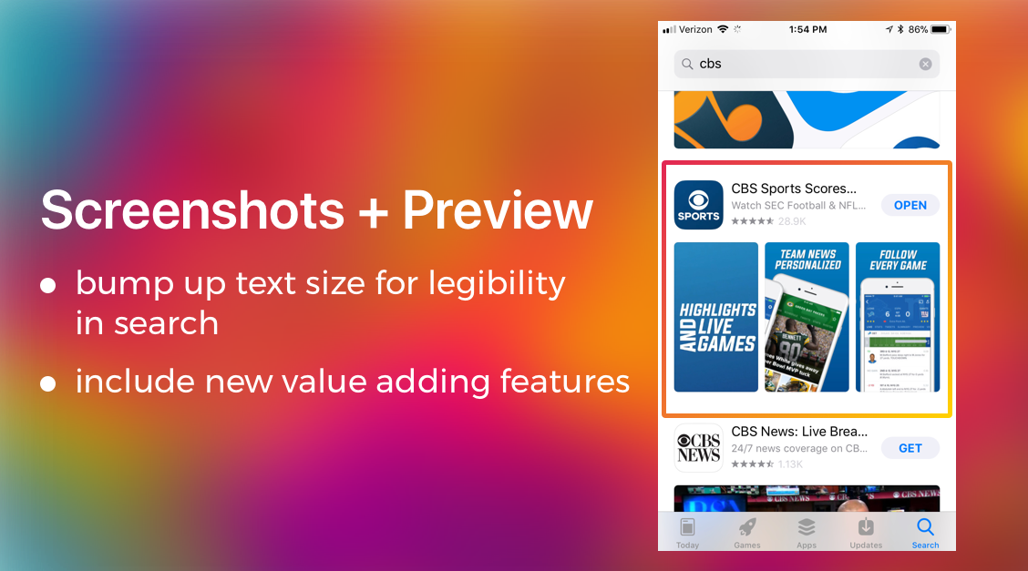 Screenshots and Preview Update | ASO App Update | The ASO Project Blog | App Optimization Company