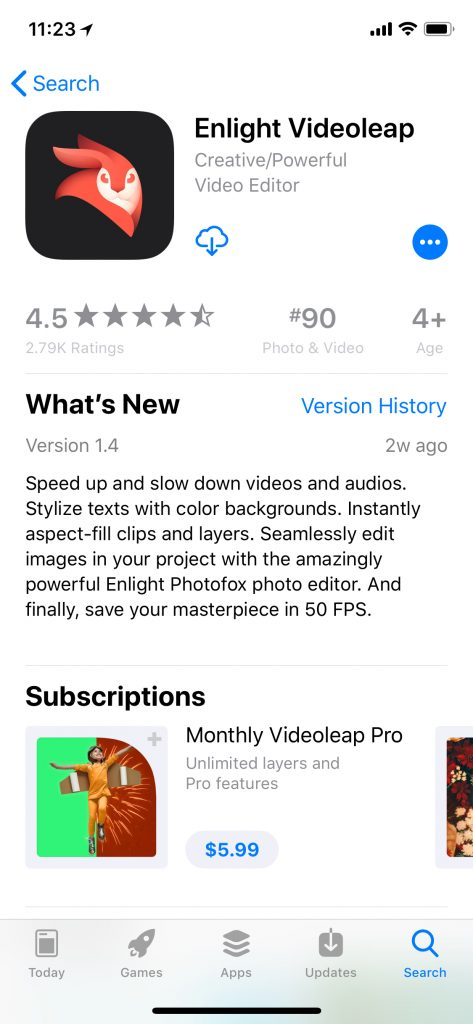 Leveraging Apple's What's New text for ASO | Enlight Example | App Store Optimization Blog