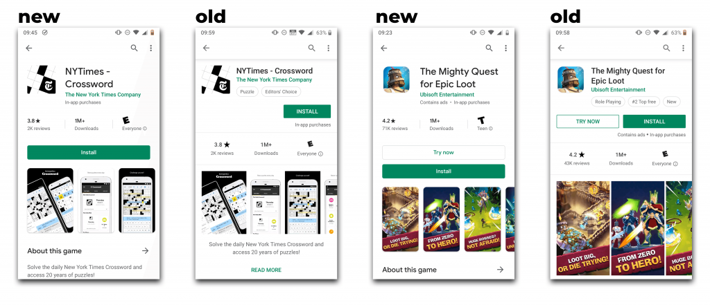 Re-Designed Google Play Store   The ASO Project Blog